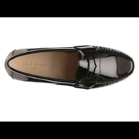 7b8376926fb9c COLE HAAN PATENT LEATHER BLACK PENNY LOAFERS FLATS Boutique